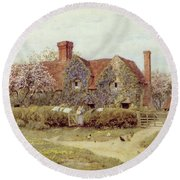 A Buckinghamshire House At Penstreet Round Beach Towel