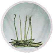 A Bunch Of Asparagus Round Beach Towel by Priska Wettstein