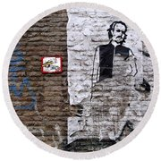 A Character On The Wall Round Beach Towel by RicardMN Photography