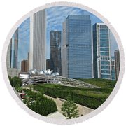 A Chicago View Round Beach Towel