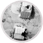 A Coalition Bombing Of Aircraft Hangers Round Beach Towel