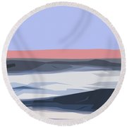 A Coastal Sunrise  Round Beach Towel