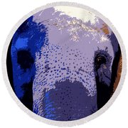 A Colorful Elephant Work Number 1 Round Beach Towel