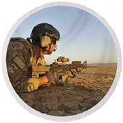 A Combat Rescue Officer Provides Round Beach Towel by Stocktrek Images