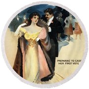 A Contented Woman, C1898 Round Beach Towel