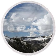A Curved View Round Beach Towel