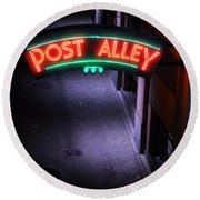 A Dark And Lonely Post Alley - Seattle  Round Beach Towel