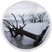 A Dark And Stormy Morning Round Beach Towel