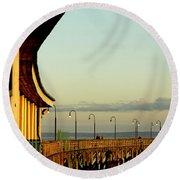 Playland Rye Beach Pier Round Beach Towel