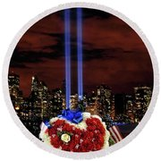 A Day Of Remembrance Nine Eleven Round Beach Towel