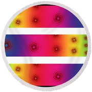 A Fractal Spectrum Round Beach Towel