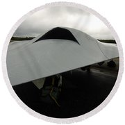 A Full Scale Joint Unmanned Combat Air Round Beach Towel
