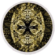 A Gothic Guise Of Gold Round Beach Towel