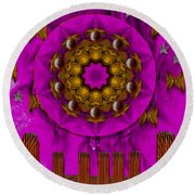 A Heavenly Sunshine Landscape Round Beach Towel