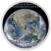 A Higher View Round Beach Towel