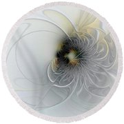 A Hint Of Gold Round Beach Towel