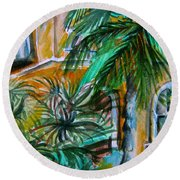 A Hotel In Sorrento Italy Round Beach Towel