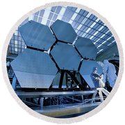 A James Webb Space Telescope Array Round Beach Towel