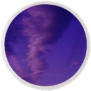 A Kind Of Blue Sky  Round Beach Towel