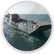 A Landing Craft Utility Transits Round Beach Towel