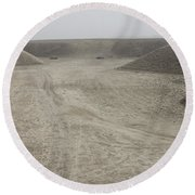 A Large Wadi Near Kunduz, Afghanistan Round Beach Towel