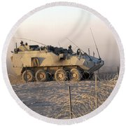 A Lav IIi Infantry Fighting Vehicle Round Beach Towel