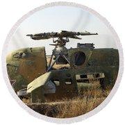 A Mi-35 Attack Helicopter At Kunduz Air Round Beach Towel