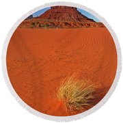 A Monument Valley View Round Beach Towel
