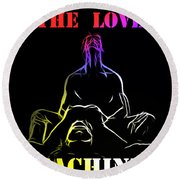 A New Lover In Town Round Beach Towel