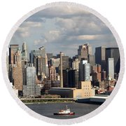 A New York City Afternoon Round Beach Towel