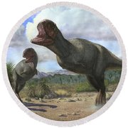 A Pair Of Pycnonemosaurus Nevesi Round Beach Towel