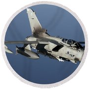 A Panavia Tornado Gr4 Of The Royal Air Round Beach Towel by Gert Kromhout