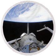 A Partial View Of The Tranquility Node Round Beach Towel