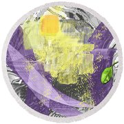 A Patch Of Sunlight Round Beach Towel