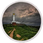 A Path To Enlightment Round Beach Towel