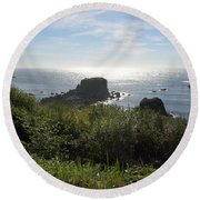 A Perfect View Round Beach Towel