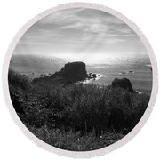 A Perfect View Of Sunlight Round Beach Towel