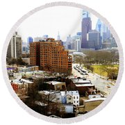 A Philadelphian View Two Round Beach Towel