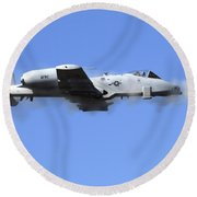 A Pilot In An A-10 Thunderbolt II Fires Round Beach Towel