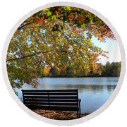 A Place For Thanks Giving Round Beach Towel