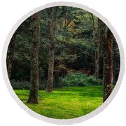 A Place To Unwind Round Beach Towel by Scott Hervieux