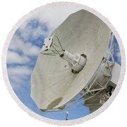A Radar Dish Aboard Mobile At-sea Round Beach Towel