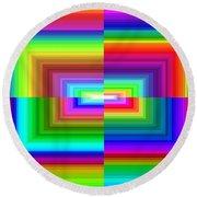 A Rainbow Is A Rainbow Is A Rainbow Round Beach Towel