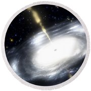 A Rare Galaxy That Is Extremely Dusty Round Beach Towel by Stocktrek Images