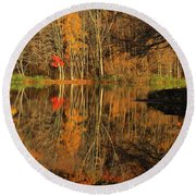 A Reflection Of October Round Beach Towel