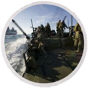 A Riverine Squadron Conducts Security Round Beach Towel