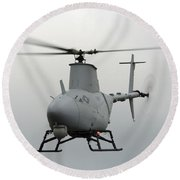 A Rq-8a Fire Scout Unmanned Aerial Round Beach Towel