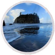 A Sea Of Blue Round Beach Towel