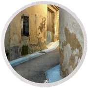 A Sidestreet In Provence Round Beach Towel