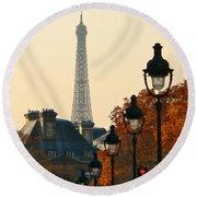 A Slice Of Paris Round Beach Towel